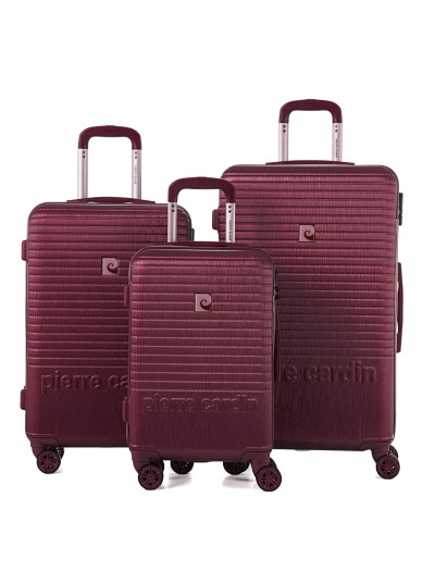 Set de 3 valises Perle rouge