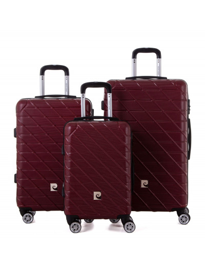 Set de 3 valises Sydney rouge