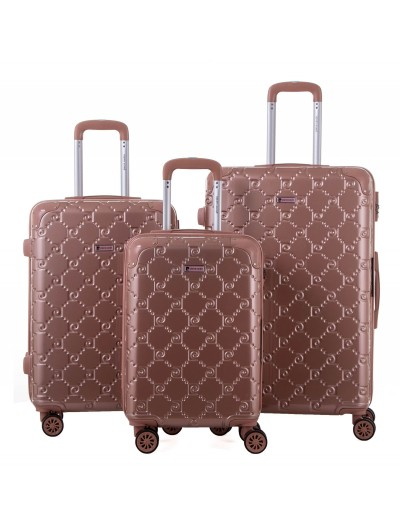 Set de 3 valises Orion rose...