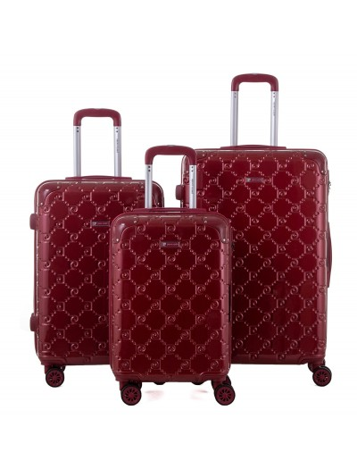 Set de 3 valises Orion rouge