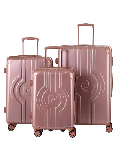 Set de 3 valises Vega rose...