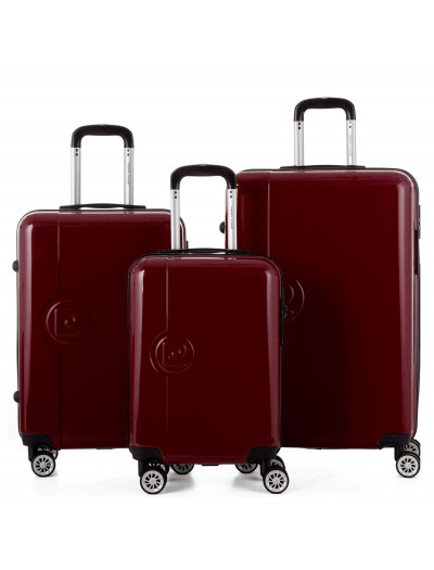 Set de 3 valises Venise rouge