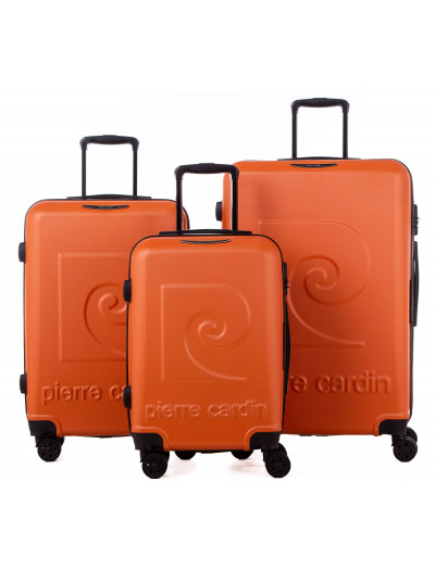 Set de 3 valises Syrios orange