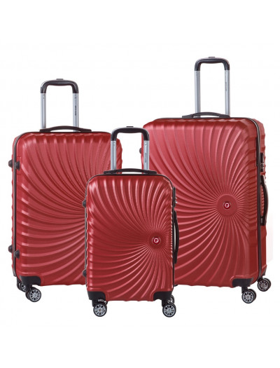 Set de 3 valises Phoenix rouge
