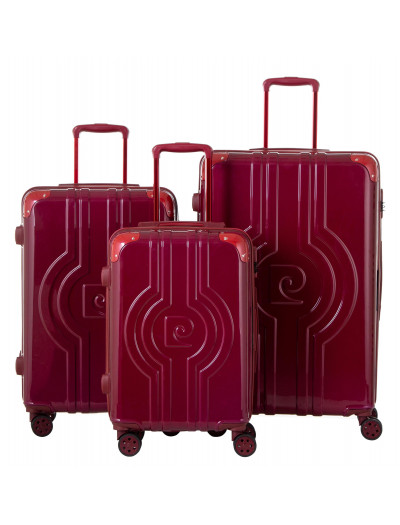 Set de 3 valises Vega rouge